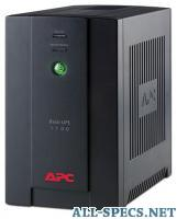 APC by Schneider Electric Back-UPS 1100VA with AVR, Schuko Outlets for Russia, 230V 1
