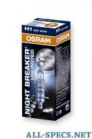 Osram - H1-12v 55w - P14.5s Night Breaker unlimited +110% (64150NBU) 811569