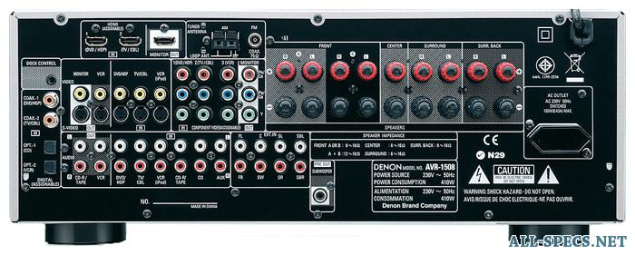 denon avr 1508 features rh en all specs net denon avr-1508 service manual denon avr 1508 manuale italiano