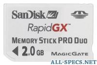 Sandisk Gaming RapidGX 2GB Memory Stick PRO Duo
